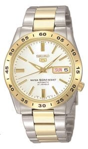 Seiko 5 Automatic Stainless Steel Gold Men's Watch SNKE04K1