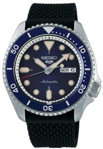 Seiko 5 Sports Blue Dial Silicone Strap Automatic Men's Watch SRPD71K2