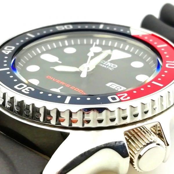 Seiko Modified Divers Automatic 'Mini Pepsi' Bezel Mens Watch SKX013K1 38mm