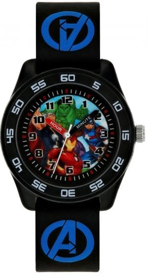 Disney Marvel Avengers Quartz Black Rip Off Time Teacher Boys Watch