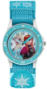 Disney Frozen Quartz Turqouise Rip Strap Time Teacher Girls Watch FZN5014
