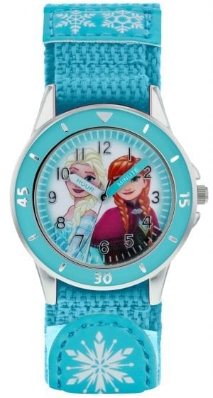 Disney Frozen Quartz Turqouise Rip Strap Time Teacher Girls Watch FZN5014
