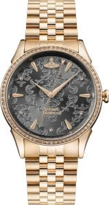 Vivienne Westwood Wallace Grey Dial Rose Gold Ladies' Watch VV208RSRS