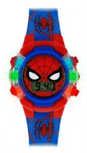 Disney Spiderman Quartz Blue Red Digital Light Up Boys Watch