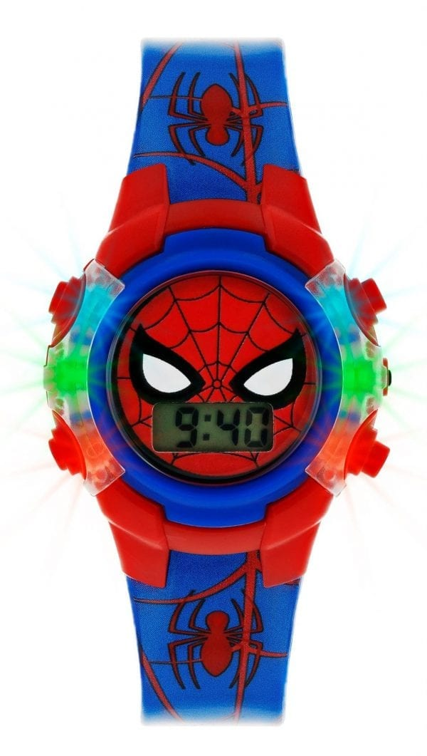 Disney Spiderman Quartz Blue Red Digital Light Up Boys Watch