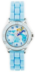 Disney Princess Cinderella Quartz Blue Rubber Strap Girls Watch