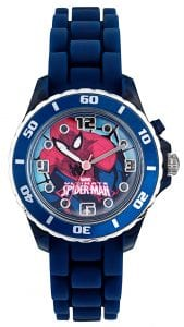 Disney Spiderman Quartz Blue Rubber Strap Boys Watch