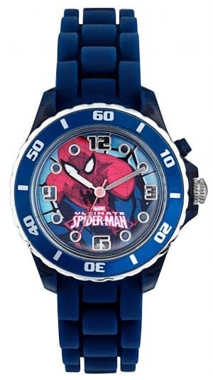 Disney Spiderman Quartz Blue Rubber Strap Boys Watch