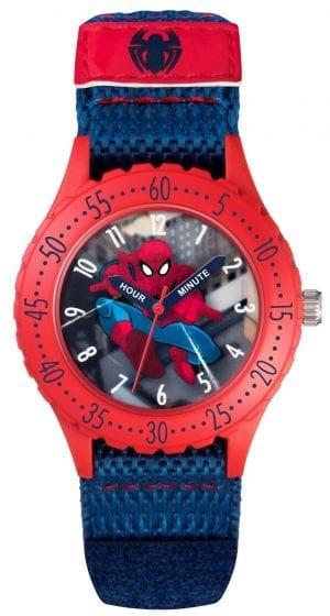 Disney Spiderman Quartz Red Blue Boys Watch