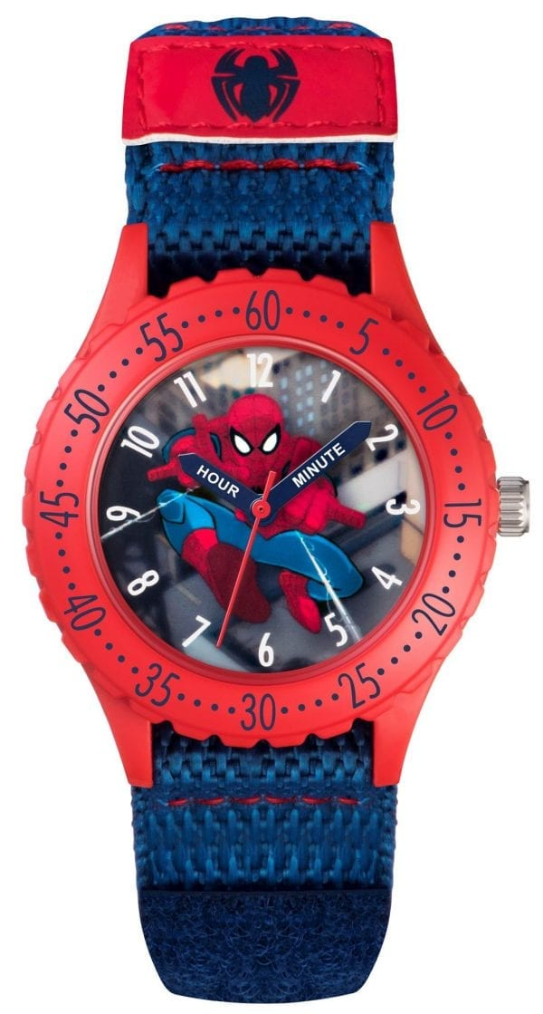 Disney Spiderman Quartz Red Blue Boys Watch