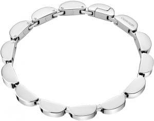 Calvin Klein Wavy Silver Stainless Steel Bracelet Ladies Jewellery