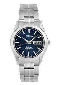 Seiko Conceptual Quartz Silver Stainless Steel Blue Dial Mens Watch SGG717P1