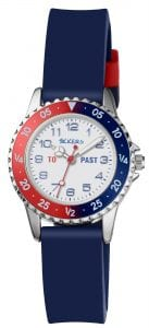 Tikkers Quartz Blue Rubber Strap White Dial Boys Watch