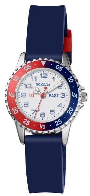 Tikkers Quartz Blue Rubber Strap White Dial Boys Watch