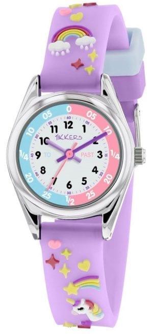 Tikkers Time Teacher Purple Unicorn Girls Watches
