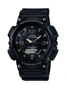 Casio Collection Black Resin Chronograph Mens Watch AQ-S810W-1A2VEF 46mm