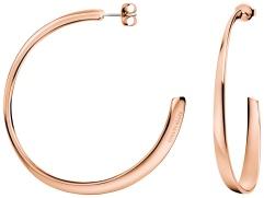 Calvin Klein Groovy Rose Gold Stainless Steel Hoop Earrings KJ8QPE100100