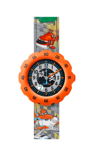 Flik Flak Disney Planes 2 Textile Strap Plastic Case Quartz Boys Watch FLSP007 35mm
