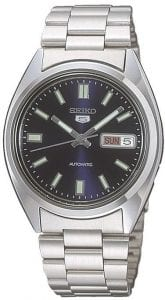 Seiko 5 Automatic Blue Dial Stainless Steel Men's Watch SNXS77K1
