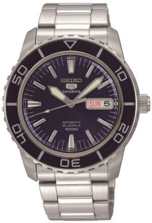 Seiko 5 Sports Automatic Stainless Steel Blue Dial Men's Watch SNZH53K1