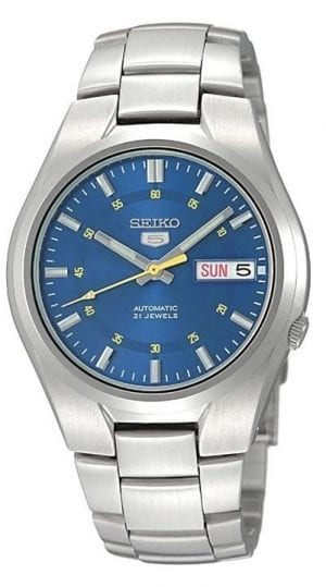 Seiko 5 Automatic Blue Dial Stainless Steel Men's Watch SNK615K1