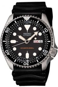 Seiko Divers 200m Automatic Black Rubber Strap Mens Watch SKX007K1 42mm