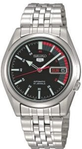 Seiko 5 Automatic Black Speedometer Dial Men's Watch SNK375K1