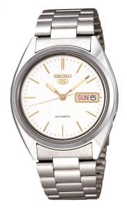 Seiko 5 Automatic Stainless Steel White Dial Men's Watch SNXG47K1