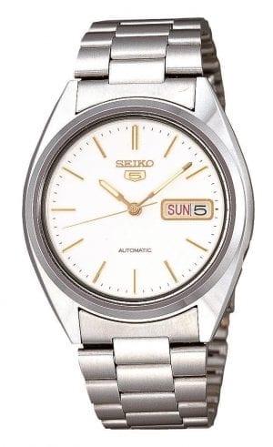Seiko 5 Automatic Stainless Steel White Dial Men's Watch SNXG47K1