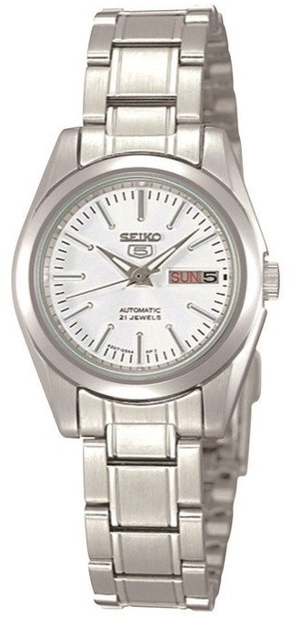Seiko 5 Automatic Silver Stainless Steel Ladies Watch SYMK13K1 24mm