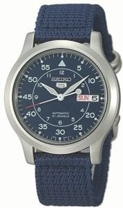 Seiko 5 Automatic Military Style Blue Men's Watch SNK807K2
