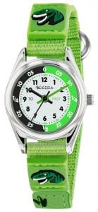 Tikkers Time Teacher Quartz Green Dinosaur Velcro Strap Boys Watch