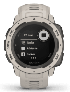 Garmin Instinct Tundra Mens Smartwatch 010-02064-01 45mmFirstly, this Garmin Instinct Tundra Mens Smartwatch 010-02064-01 45mm showcases the advances of the watchmaking industry. Also, the 010-02064-01 has a full digital smart display. Furthermore, the screen can be customised to suit your preferences. Moreover, this watch is part of the Instinct family making it perfect for outdoor adventures and activities. Additionally, the watch has also has downloadable training apps to help tailor your workout. The dial is touch screen and customisable, ensuring easy usability for your messaging and alerts. The advanced dial is protected by a grey tundra fibre-reinforced polymer case. Finally, to equip this timepiece a grey tundra silicone strap is fastened comfortably around ones wrist using a standard buckle.This watch has a water resistance rating of 100 metres, making it suitable for swimming but should not be submerged to significant depths.Key Features:14 Day Smart Mode Battery LifeSleep MonitoringDownloadable Training PlansActivity HistoryCustomisation ScreenCustomisation AlertsGym Activity ProfilesCalendarAltimeterWeatherFloors ClimbedFibre-Reinforced Polymer CaseOutdoor Recreation Profiles100m Water ResistantBluetooth ConnectivityFind My WatchStopwatchiPhone, AndroidThermometerAlarmSmart Notifications The Family: InstinctThe rugged instinct family is a very reliable piece, meaning the world can rely on you. Also, the outdoor GPS timepieces in this collection are built to US military standard for thermal, shock and water resistance (of 100 metres). Additionally, the reinforced-fibre polymer case and chemically-strengthed glass adds to the rugged design in this line.The Brand:Garmin is a highly advanced technology company founded in 1989. Garmin produces and supplies GPS technology in cars, planes and outdoor activities. Highlighting the multiplicity of the brand. They have also began to dominate the smartwatch market recently. Also, they have began to rival big name multi-sport watch, such as Fitbit and Apple. Moreover, they have established themselves in the market, by continually adding new advanced features upon each new release. Finally, this has earned Garmin the reputation, as being the 'Porsche' of multi-sport watches.Since then they have been able to add more advanced features once not thought possible such as music, messaging and even a heart rate monitor.If you have any questions please click hereClick here to join our facebook and Instagram!