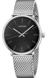 Calvin Klein High Noon Black Dial Mesh Bracelet Men's WatchSimple and yet stylish, this Calvin Klein High Noon Black Dial Mesh Bracelet Men's Watch (K8M21121) features a stainless steel mesh bracelet, a black dial, and a quartz movement. Key Features:Quartz MovementStainless Steel Mesh BraceletBlack Dial
