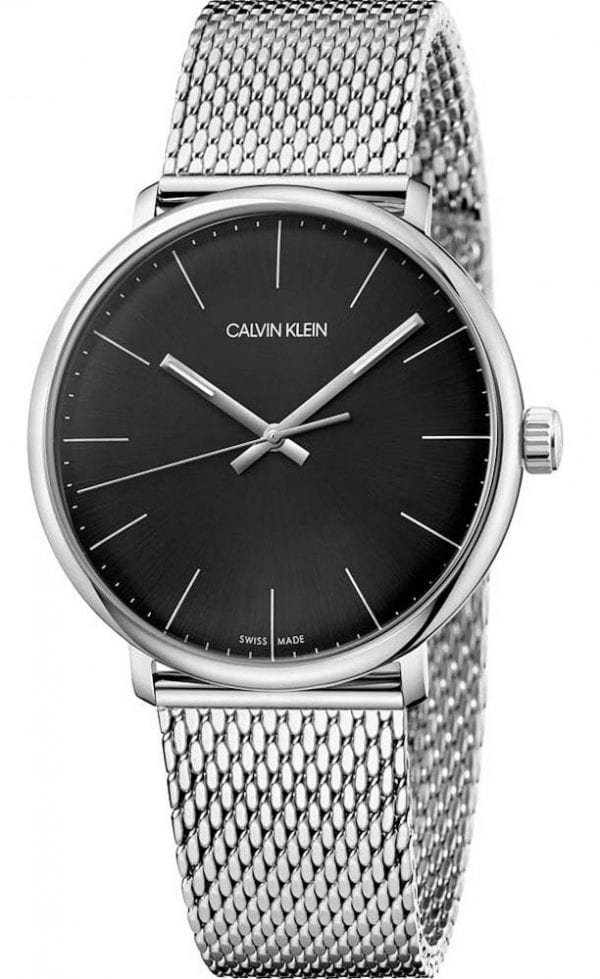 Calvin Klein High Noon Black Dial Mesh Bracelet Men's WatchSimple and yet stylish, this Calvin Klein High Noon Black Dial Mesh Bracelet Men's Watch (K8M21121) features a stainless steel mesh bracelet, a black dial, and a quartz movement.Key Features:Quartz MovementStainless Steel Mesh BraceletBlack Dial