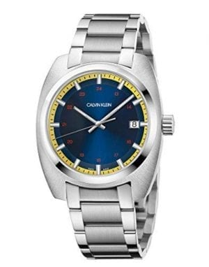 Calvin Klein Achieve Collection Blue Dial Men's Watch K8W3114NThis Calvin Klein Acheive Collection Blue Dial Men's Watch (K8W3114N) pairs a luxurious blue dial, with a strong stainless steel bracelet resulting in a striking and incredibly attractive timepiece. This watchis powered by a precise quartz movement and is protected by a 2 year manufacturer's warranty.Key Features:Movement - QuartzCase Size - 43mmWater Resistant - 30mGlass - MineralStrap Type - Stainless Steel Bracelet