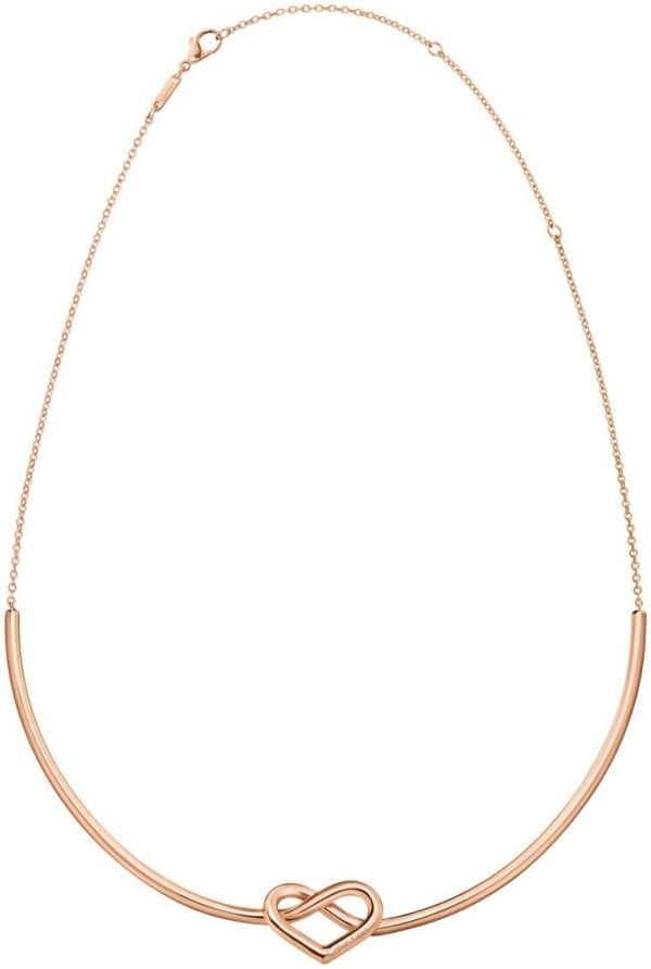 Calvin Klein Rose Gold Plated Charming Ladies Necklace KJ6BPJ100100