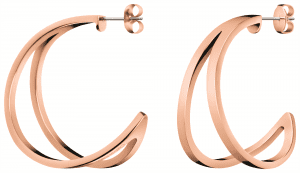 Calvin Klein Rose Gold Plated Stainless Steel Outline Ladies Earring KJ6VPE100200Stylish and attractive, thisCalvin Klein Rose Gold Plated Stainless Steel Outline Ladies Earring KJ6VPE100200 is complete with a polished and toned surface. Furthermore, these earrings are the perfect gift for the ladies.Key Features:Butterfly ClaspOutline CollectionRose Gold PlatedThe Brand: Calvin KleinCalvin Klein is one of the truly iconic cultural forces to emerge from the twentieth century. Based on bold, progressive thinking and seductively minimal aesthetic, the company was founded as a Manhattan coat shop by its namesake in 1968, and has since become a global lifestyle phenomenon. In line with this design mission is Calvin Klein's range of timepieces. Defined by their trademark simplicity and constantly evolving to match contemporary trends, the collection allows the wearer to sport a fashion legend proudly on their wrist.