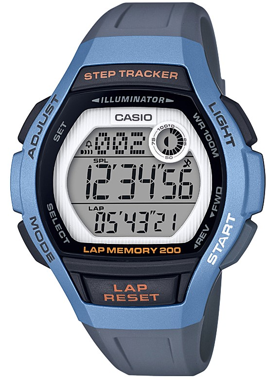 Casio Collection Classic Quartz Digital Light Blue Resin Retro Step-tracker Vintage WatchIn conjunction with the Casio Collection, this Sport Light Blue Steptracker Ladies Watch LWS-2000H-2AVEF boasts a range of fantastic features. Notably, it has a a full digital display with a dual display, a lap memory of 200, as well as a step-tracker. These features make this a great watch for those who enjoy exercising or equally those who just want to wear it to look even cooler. Another notable feature of this watch is its ability to act as an alarm, so that you never wake up late again.However, what is most impressive is this watches ability to set two different timezones, which isextremely helpful if you aresomeone who may make overseas calls.Key Features:Sports StyleSteptrackerCasio CollectionLED LightLap Memory 200Illuminator100m Water ResistantDigital LCD DisplayBlue Resin StrapPlexiglass CrystalQuartz MovementDay/Date/Month CalendarStandard BuckleThe Family: Casio ClassicThe Casio Classic Collection includes some the most iconic watches the company has ever made. Popular today due to their retro appeal, refreshingly simple practicality, and understated styling, the Casio Classic Collection of timepieces are truly timeless and appeal to an almost uniquely broad range of people; proof that some things genuinely never go out of style.The Brand: CasioCasio was established in 1946 by Japanese engineer Tadao Kashio. The company entered the timepiece market in 1974 with the release of the Casiotron, the world's first Auto Calendar watch. Only eleven years after entering this field, Casio completely reshaped global thought about the function a watch should perform with the release of the pioneering and now legendary G-Shock family. Innovation and world firsts have defined the company's history ever since. The most striking of these being the release of the first ever touch screen watch in 1991, 24 years before the Apple Watch, and the first ever wrist camera watch in 2000. In 