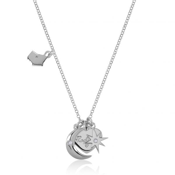 Radley Heart Sterling Silver Charms Necklace RYJ2043ThisRadley Heart Sterling Silver Charms Necklace RYJ2043 is the perfect addition to any jewellery set. A sterling silver chain link is finished off with four wonderful charms. The charms include; the Radley dog, heart, crescent moon & a polished star.Key Features:Heart CollectionSterling SilverCharms (Dog, Heart, Moon, Star)The Brand: RadleyWe are a London born brand that has a passion for crafting beautiful handbags and accessories that women love. Our approach is simple – to create the perfect combination of style on the outside and functionality on the inside. To achieve this we blend creative design, quality materials and immaculate craftsmanship, not forgetting plenty of personality to finish. We hope you enjoy exploring our world…