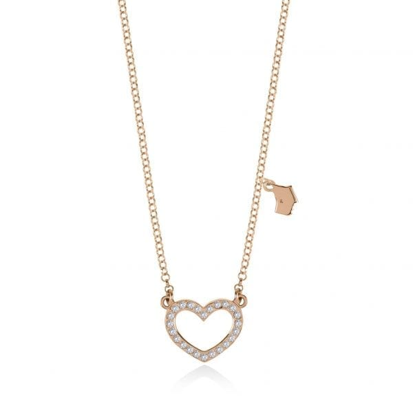 Radley Heart Rose Gold PVD Sterling Silver Czech Stone Dog Charm Necklace RYJ2054This Radley Heart Rose Gold PVD Sterling Silver Czech Stone Dog Charm Necklace RYJ2054 is a perfect addition to any jewellery collection. A rose gold PVD sterling silver chain link is finished off with a heart and Radley dog charm. The heart of which is made of sterling silver has beautiful Czech stones delicately placed on the front.Key Features:Heart CollectionSterling SilverCzech StoneDog Charm  The Brand: RadleyWe are a London born brand that has a passion for crafting beautiful handbags and accessories that women love. Our approach is simple – to create the perfect combination of style on the outside and functionality on the inside. To achieve this we blend creative design, quality materials and immaculate craftsmanship, not forgetting plenty of personality to finish. We hope you enjoy exploring our world…