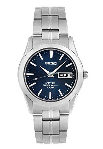 Seiko Conceptual Quartz Silver Stainless Steel Blue Dial Men's Watch SGG717P1Driven by a Quartz movement, this Seiko Conceptual Quartz Silver Stainless Steel Blue Dial Men's Watch SGG717P1 offers superb watchmaking expertise. The watch has a very simplisitc silver and blue design yet brings out an outstanding class for day to day use. Starting off with the dial, silver indexes and luminous hands sit just above a simplistic blue dial. Sat just below the 12 o'clock index the ever present Seiko logo can be located with a day and date window sat adjacent to the 3 o'clock index. To protect the dial, sapphire crystal glass sits on top with a silver stainless steel case sitting around the edge. To continue the simplistic design, a silver stainless steel bracelet is secured by a push button deployment clasp.This watch has a water resistancy of 100 metres, making it suitable for swimming and snorkeling but should not be used for any form of diving. Key Features:Quartz Movement100m Water ResistantDay/Date FunctionBlue DialAnalogue DisplaySilver HandsStainless Steel BraceletStainless Steel CaseCaliber 7N43Deployment ClaspLuminous HandsSapphire Crystal Glass The Brand: SeikoSeiko's 135-year history has been marked by a ceaseless determination to innovate in every aspect of the watchmaker's art. By embracing this mantra, Seiko has been responsible for a string of industry-leading advances in the technology of time, such as the world's first quartz watch, the world's first TV watch, and the Seiko Kinetic, the first watch ever to generate its own electricity from the movement of the wearer. Seiko are unique in that they manufacture every aspect of every watch in-house, with this ruthless pursuit of perfection even including growing their own quartz crystals and sapphires.If you have any questions please click hereClick here to join our facebook and Instagram!