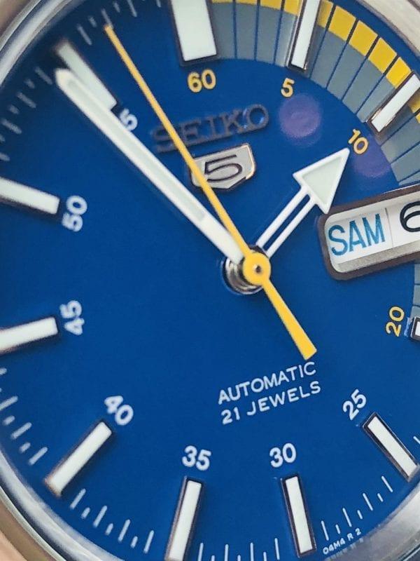 Seiko 5 Automatic Blue Speedometer Dial Men's Watch SNKK27K1