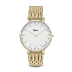 CLUSE La Boheme Gold PVD Stainless Steel White Dial Ladies Watch CW0101201009