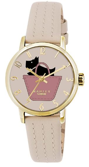 Radley Border Beige Leather Dog In A Bag Dial Quartz Ladies Watch RY2288