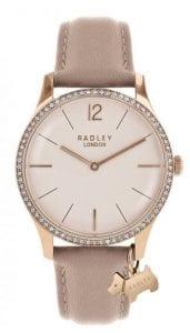 Radley Millbank Pink Leather Rose Gold PVD Quartz Ladies Watch RY2524