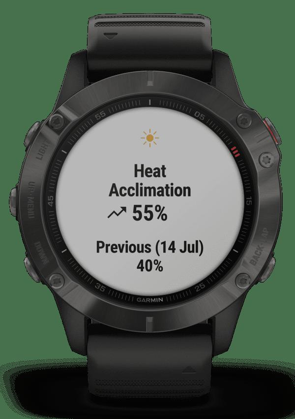 Garmin Fenix 6 Black Silicone Strap Gunmetal Case Quartz Men's Smartwatch 010-02158-11