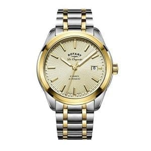 Rotary Legacy Automatic Two Tone Silver Gold Stainless Steel Men's Watch GB90166/03