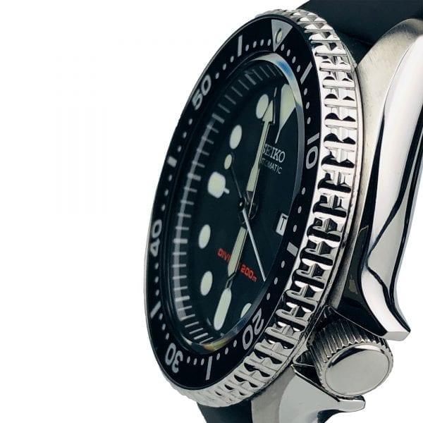 Seiko Diver's 200m Automatic Black Rubber Strap Men's Watch