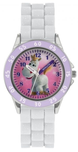 Disney Toy Story Quartz White Rubber Strap Time Teacher Girls Watch TYM9007